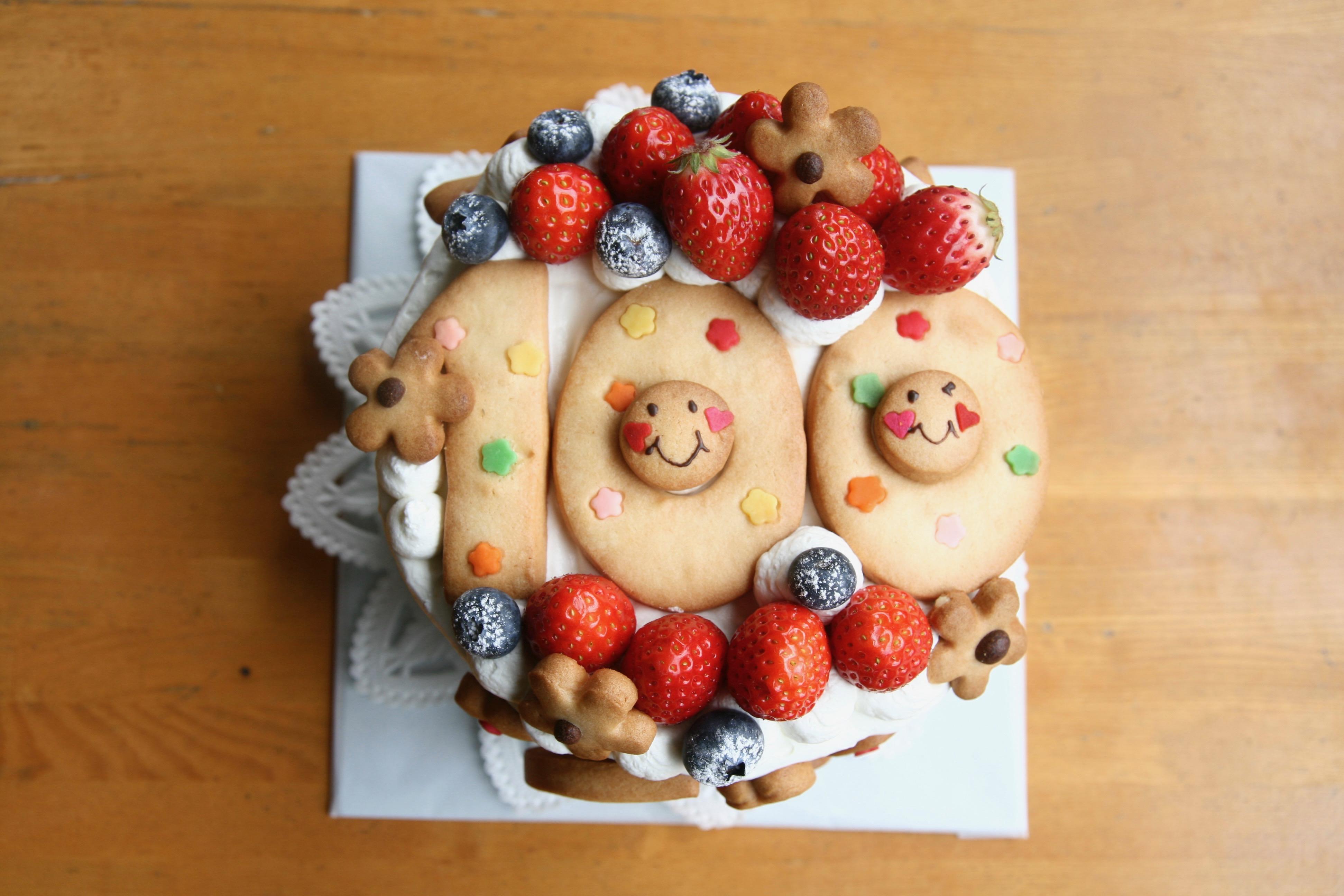 100日ケーキとママのバースデー