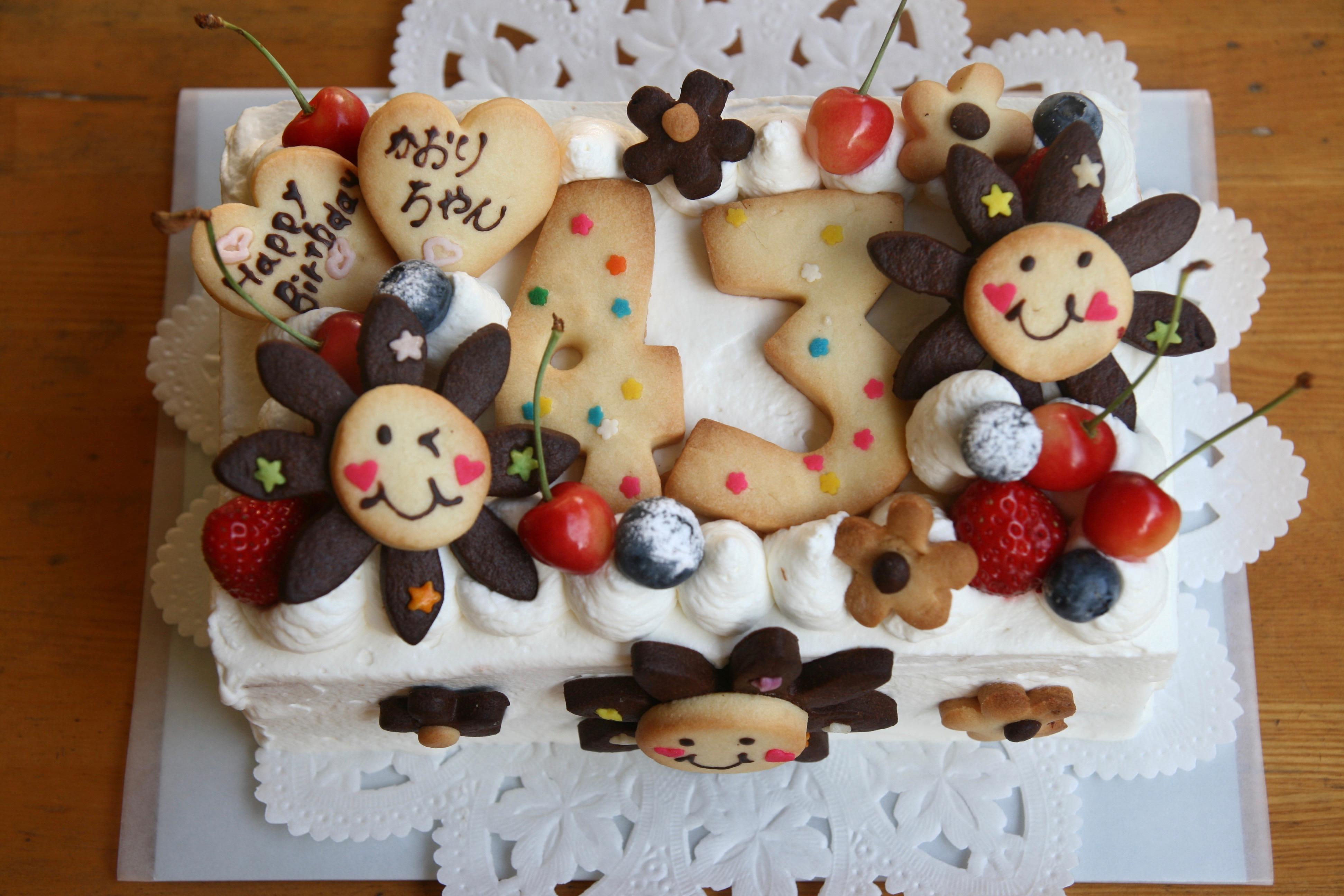 お友達にプレゼントケーキ