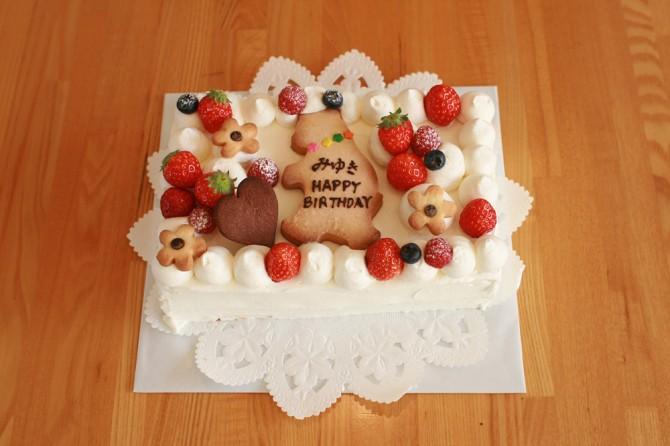 バースデーケーキ くまさん
