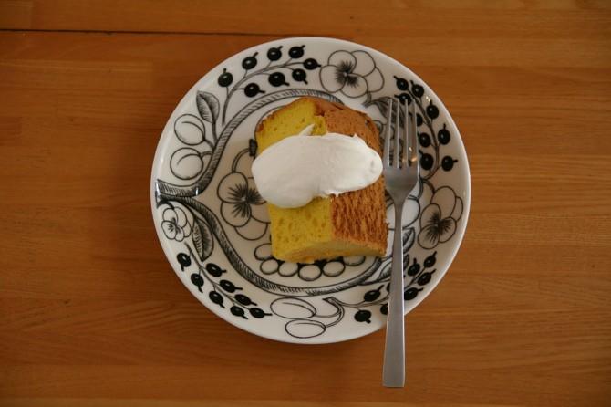 カボチャのシフォンケーキ