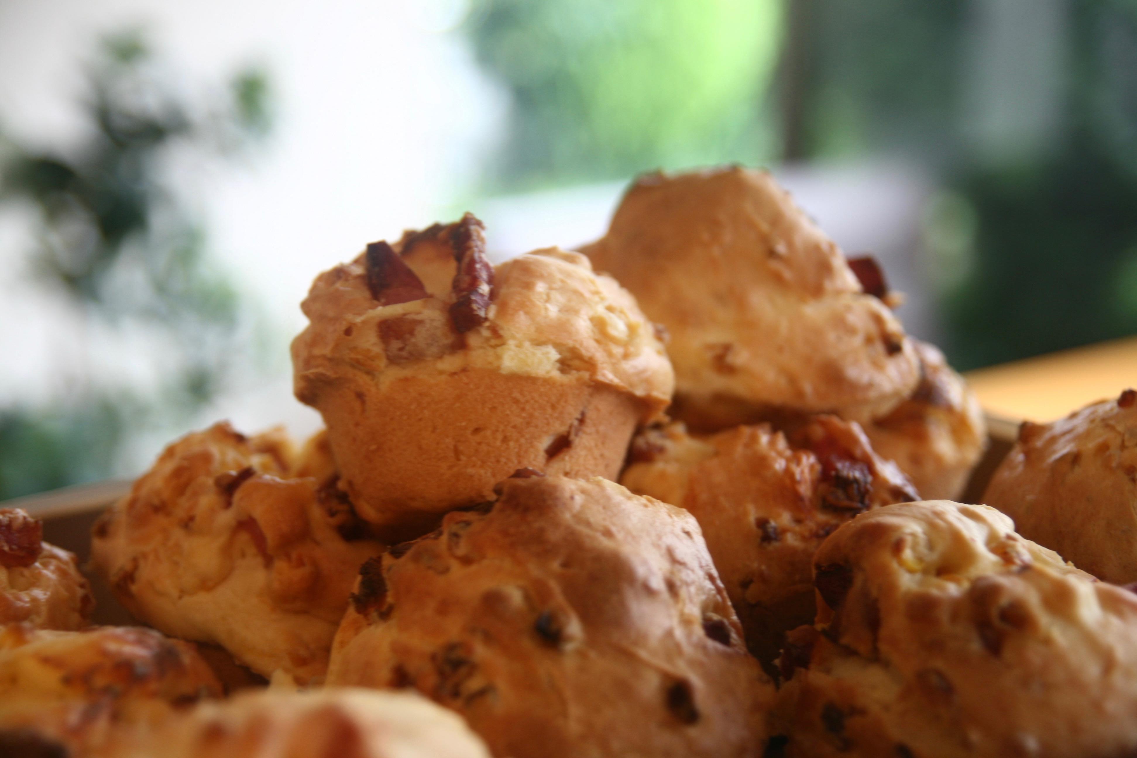 ベーコントウモロコシクリームチーズマフィン