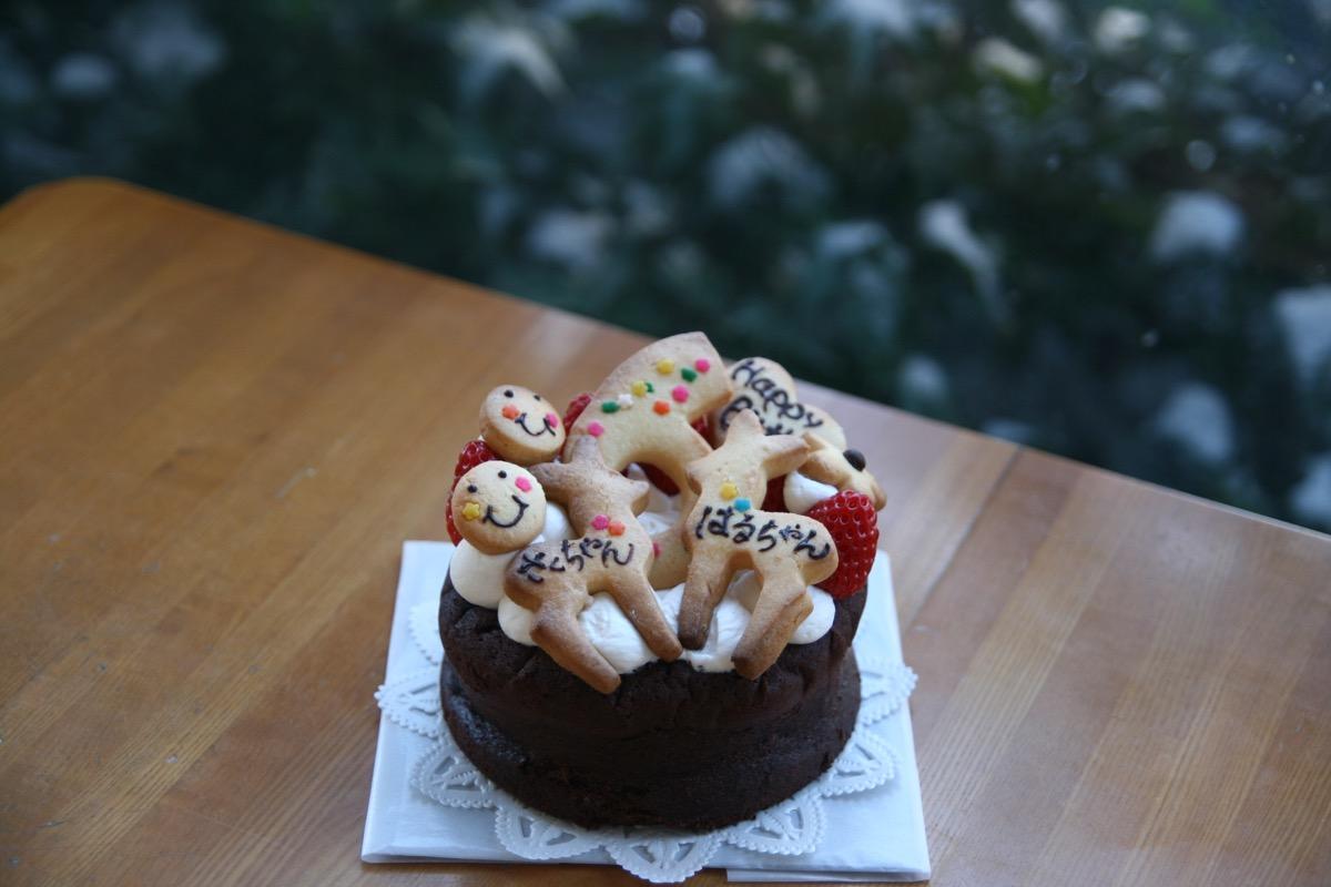 6歳の双子ちゃんのケーキ