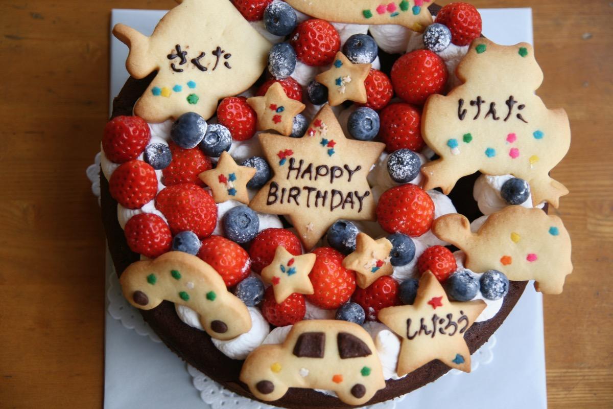 男の子3人のケーキ
