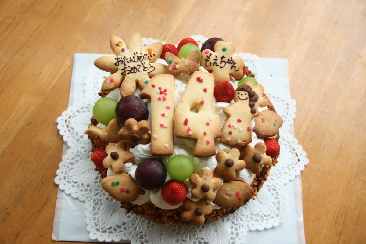 14歳のバースデーケーキ