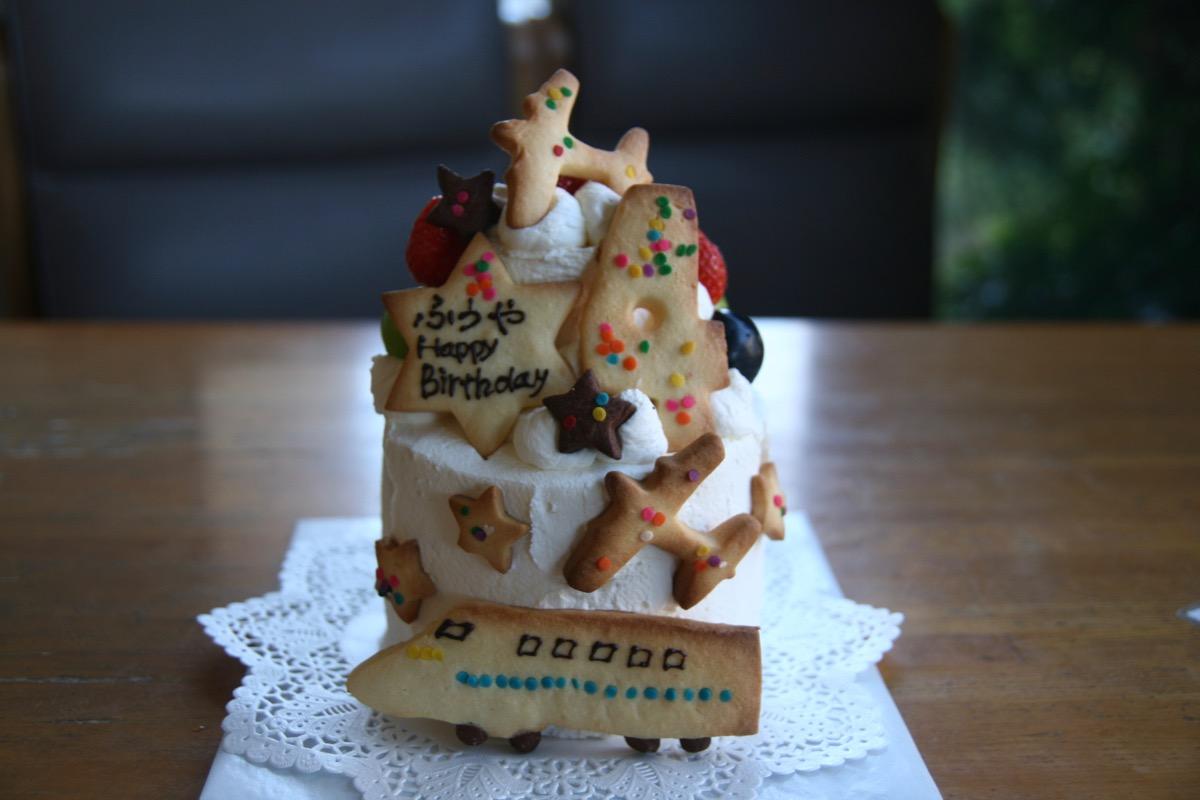 小さな2段のケーキ