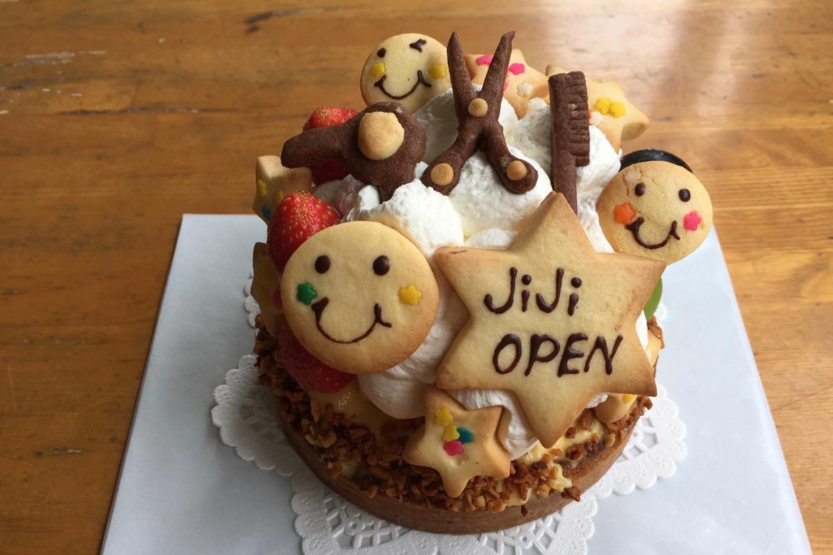 美容院openケーキ