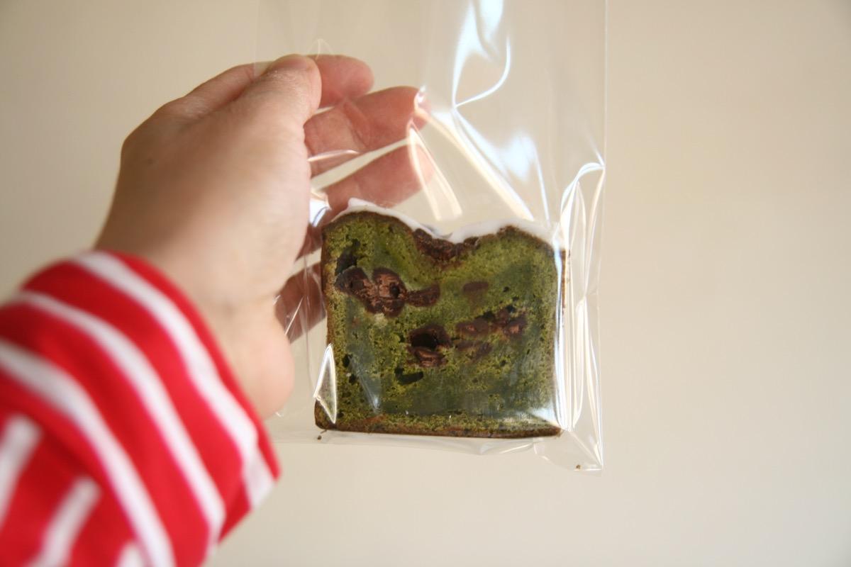 抹茶とチョコのパウンドケーキ
