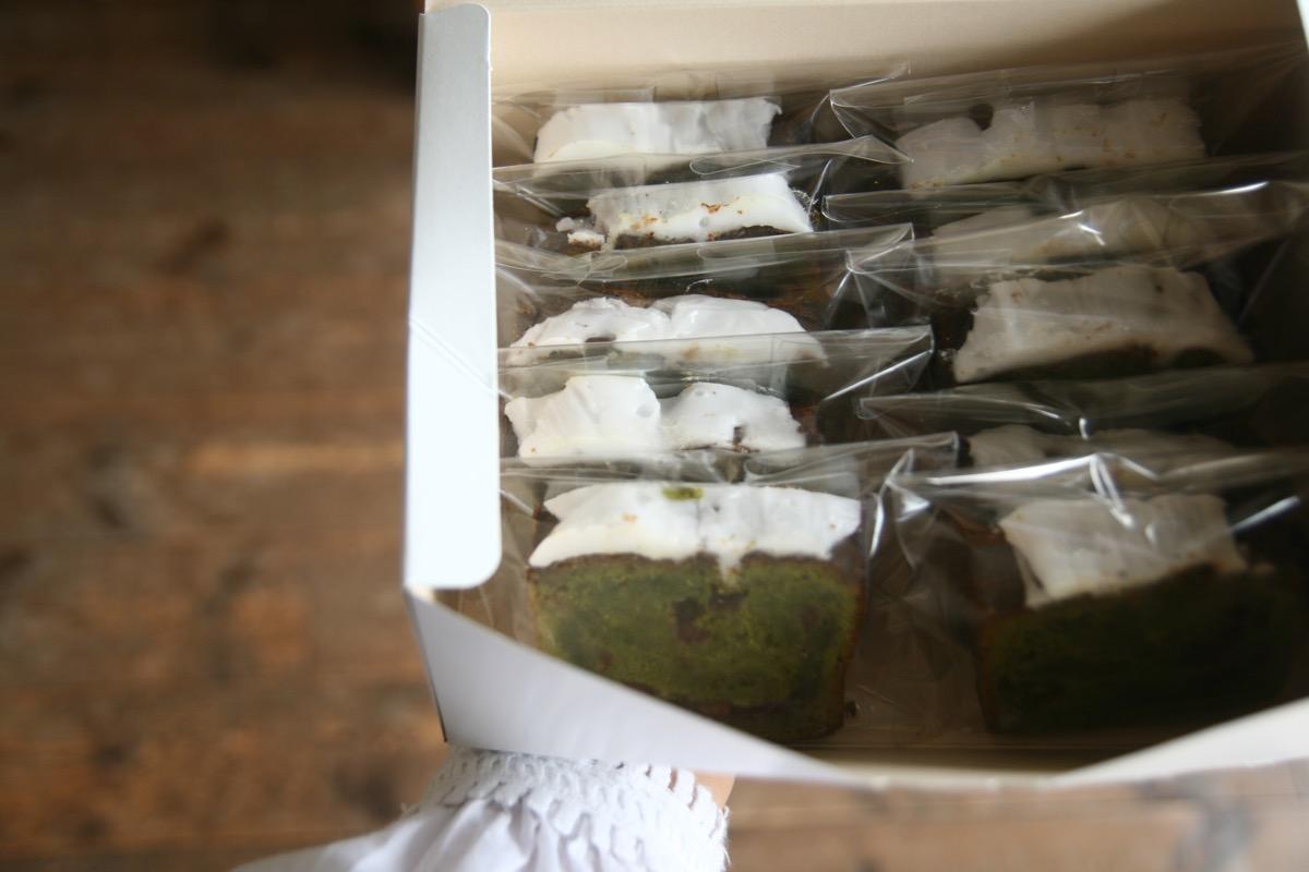 抹茶のパウンドケーキの手土産